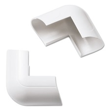 D-Line® Clip-Over External Bend for Mini Cord Cover, White, 2 per Pack