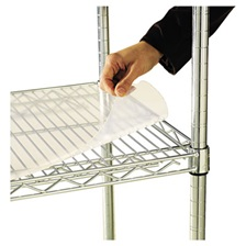 Alera® Shelf Liners For Wire Shelving, Clear Plastic, 48w x 18d, 4/Pack