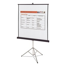 Quartet® Portable Tripod Projection Screen, 70 x 70, White Matte, Black Steel Case