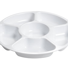 "Platter Pleasers 12"" 6 Compartment Tray - 3521-WH"