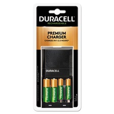 Duracell® ION SPEED 4000 Hi-Performance Charger, Includes 2 AA and 2 AAA NiMH Batteries