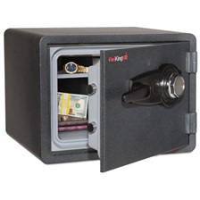 FireKing® One Hour Fire and Water Safe with Combo Lock, 0.85 cu. ft., Graphite