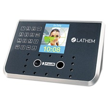 Lathem® Time Face Recognition Time Clock System. 500 Employees, Gray, 7-1/4 x 3-1/2 x 5-1/4