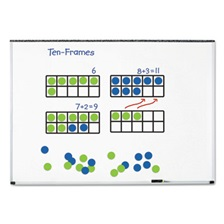 "Learning Resources® Giant Magnetic Ten-Frame Set, 12 1/4""L x 5""H, Blue/Green"