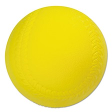Champion Sports Coated Foam Sport Ball, Softball, Official Size, Yellow