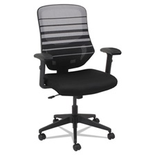 Alera® Alera Embre Series Mesh Mid-Back Chair, Black/White