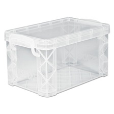 Advantus Super Stacker Storage Boxes, Hold 500 4 x 6 Cards, Plastic, Clear