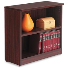 Alera® Alera Valencia Series Bookcase, Two-Shelf, 31 3/4w x 14d x 29 1/2h, Mahogany