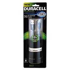 Duracell® Sync And Charge Cable, Micro USB, iPhone, 10 ft