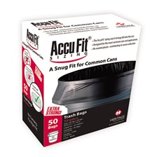 "AccuFit® Can Liners, 23gal, .90mil, Black, 28"" x 45"", 50/Box"