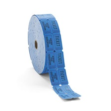 PM Company® Consecutively Numbered Double Ticket Roll, Blue, 2000 Tickets/Roll