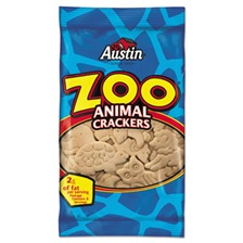 Austin® Zoo Animal Crackers, Original, 2oz Pack, 80/Carton