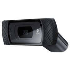 Logitech® B910 HD Webcam, 720p, Black