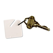 SteelMaster® Numbered Slotted Rack Key Tags, Plastic, 1 1/2 x 1 1/2, White, 20/Pack