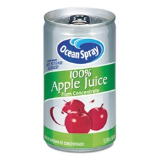 Ocean Spray® 100% Juice, Apple, 5.5 oz Can