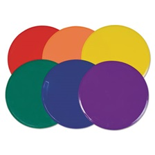 "Champion Sports Extra Large Poly Marker Set, 12"" Diameter, Assorted Colors, 6 Spots/Set"