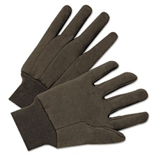 Anchor Brand® Jersey General Purpose Gloves, Brown, 12 Pairs