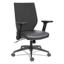 Alera® Alera EB-T Series Syncho Mid-Back Flip-Arm Chair, Black