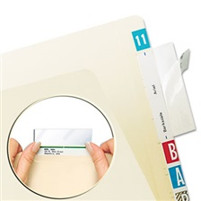 Tabbies® Self-Adhesive Label/File Folder Protector, Top Tab, 3 1/2 x 2, Clear, 500/Box