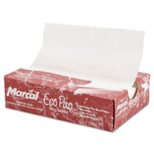 "Marcal® Eco-Pac Natural Interfolded Dry Wax Paper, 8"" x 10.75"", 500/Box, 12 Boxes/Carton"
