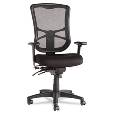 Alera® Alera Elusion Series Mesh High-Back Multifunction Chair, Black