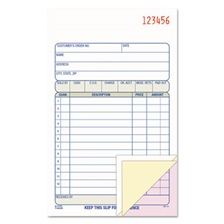 Adams® Carbonless Sales Order Book, Three-Part Carbonless, 4-3/16 x 7 3/16, 50 Sheets