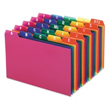 Oxford™ Card Guides, Alpha, 1/5 Tab, Polypropylene, 4 x 6, 25/Set