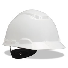 3M™ H-700 Series Hard Hat with 4 Point Ratchet Suspension, White