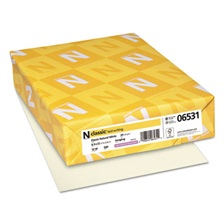 Neenah Paper CLASSIC Laid Writing Paper, 24lb, 8 1/2 x 11, Natural White, 500 Sheets