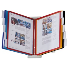 Durable® InstaView Expandable Desktop Reference System with Assorted Borders, 10 Panels