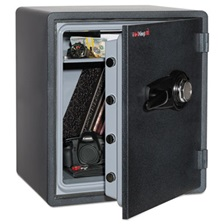 FireKing® One Hour Fire and Water Safe with Combo Lock, 2.14 cu. ft., Graphite