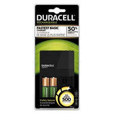 Duracell® ION SPEED 500 Starter Kit Charger, Includes 2 AA NiMH Batteries