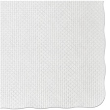 Hoffmaster® Knurl Embossed Scalloped Edge Placemats, 9 1/2 x 13 1/2, White, 1000/Carton