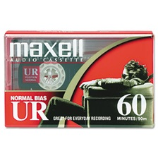 Maxell® Dictation & Audio Cassette, Normal Bias, 60 Minutes (30 x 2)