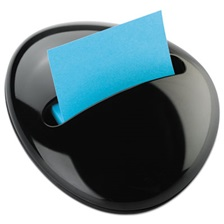Post-it® Pop-up Notes Pebble Notes Dispenser for 3 x 3 Pads, Black