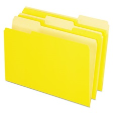 Pendaflex® Colored File Folders, 1/3 Cut Top Tab, Legal, Yellow, Light Yellow, 100/Box