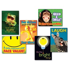 "TREND® ""Attitude & Smiles"" ARGUS Poster Combo Pack, 6 Posters/Pack"