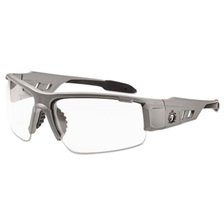 ergodyne® Skullerz Dagr Safety Glasses, Matte Gray Frame/Clear Lens, Nylon/Polycarb