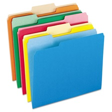 Pendaflex® Colored File Folders, 1/3 Cut Top Tab, Letter, Assorted Colors, 100/Box