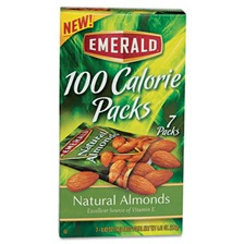 Emerald® 100 Calorie Pack All Natural Almonds, 0.63oz Packs, 84/Carton