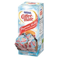 Coffee-mate® Liquid Coffee Creamer, Peppermint Mocha, 0.375 oz Mini Cups, 50/Box, 4/Carton