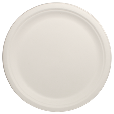 "10"" Bagasse Plate, Round, Ref#P005"