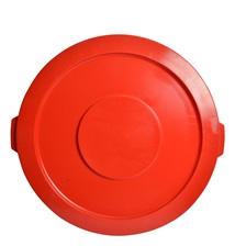 44 Gal. Round Garbage Container Lid Red