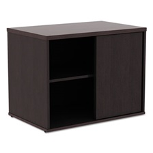 Alera® Alera Open Office Low Storage Cab Cred, 29 1/2w x 19 1/8d x 22 7/8h, Espresso