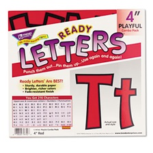 "TREND® Ready Letters Playful Combo Set, Red, 4""h, 216/Set"