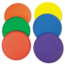 Champion Sports Rhino Skin Foam Discs, Set of 6 Assorted Color Discs