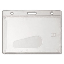 Advantus Frosted Rigid Badge Holder, 3 3/8 x 2 1/8, Clear, Horizontal, 25/BX