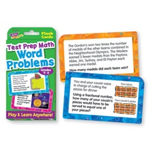 TREND® Challenge Flash Cards, Math Grades 4-6, 3 1/8 x 5 1/4, 56 per Pack