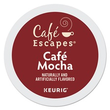 Café Escapes® Mocha K-Cups, 24/Box, 96/Carton