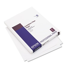 Epson® Exhibition Fiber Paper, 8-1/2 x 11, White, 25 Sheets